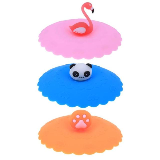 Cartoon Decorated Silicone Cup Cover