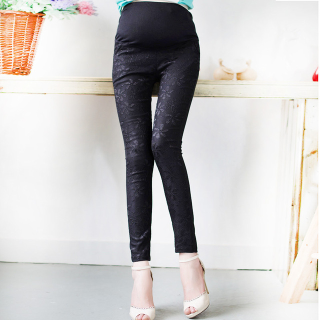 Lace Maternity Leggings for Pregnant Women Fashion Maternity Clothes for Pregnant Pregnancy Leggings for Summer Spring Autumn