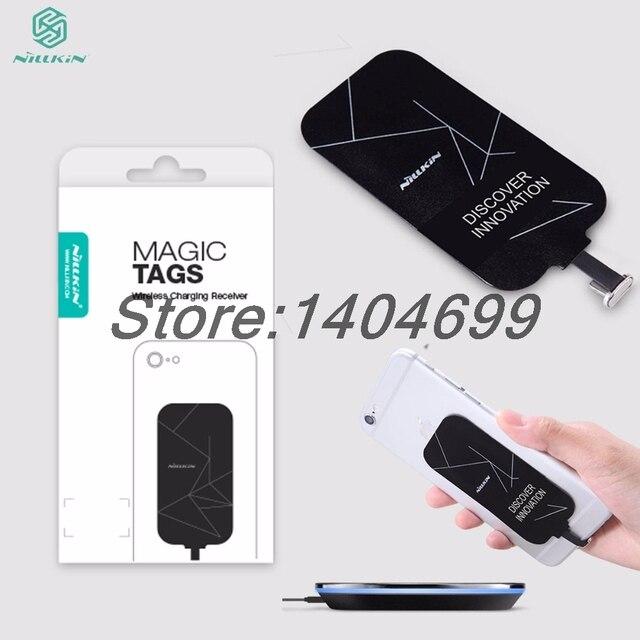 Универсальный Qi беспроводной зарядное устройство зарядки для iphone 7 5S SE S 6 6 S Nillkin Magic катушка с ярлыком Micro USB/Тип C приемник адаптер