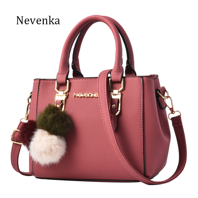 60939349d9 Nevenka Women Leather Handbag Brand Name Bag Female Shoulder Bags Solid  Ladies Crossbody Bag Travel Lady Evening Bags 2018