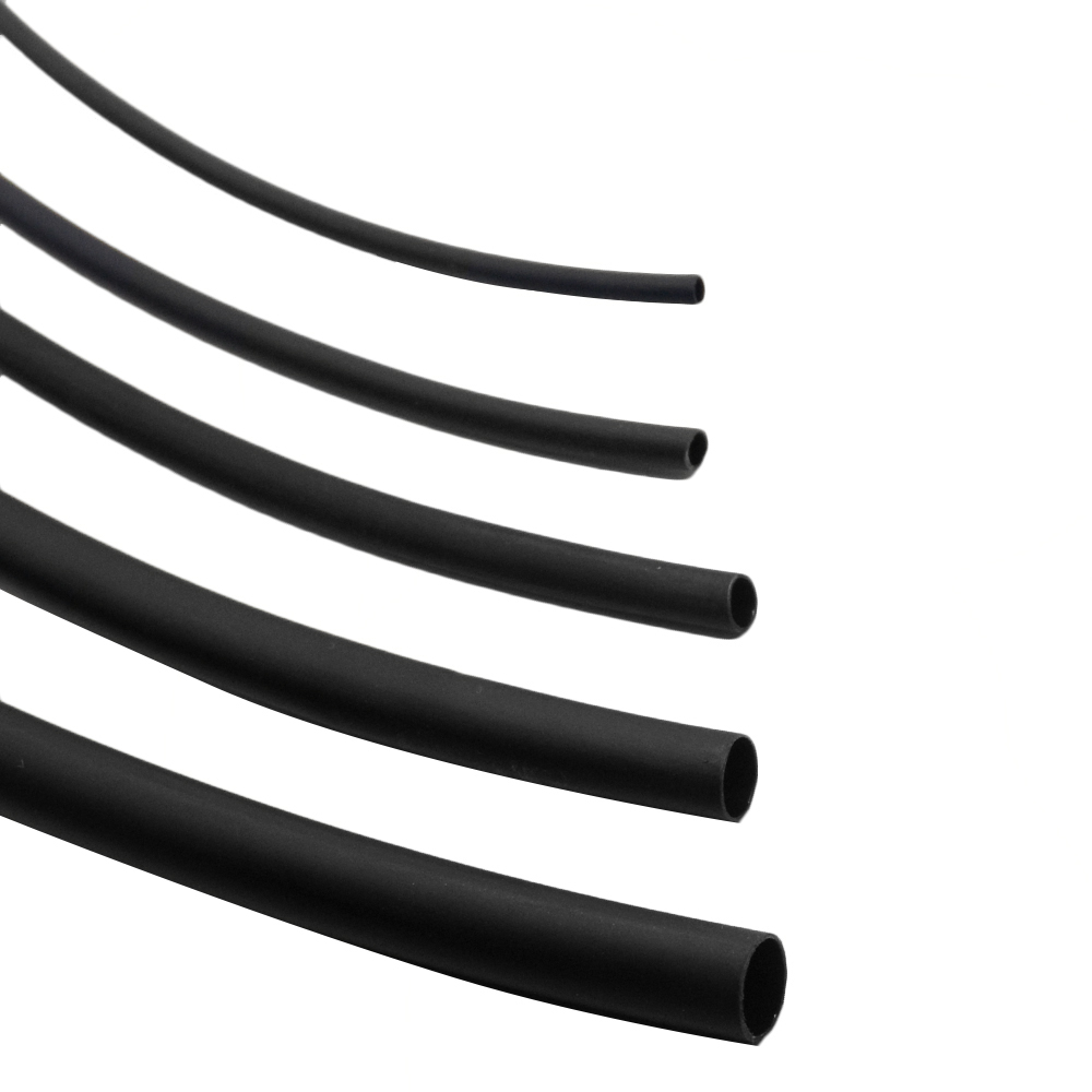 1M 5M 2:1 Round Diameter 1 1.5 2 3 4 5 6 7 8 10 12mm Heat Shrink Tubing Shrinkable Tube Black Wire Wrap Insulation Sleeving