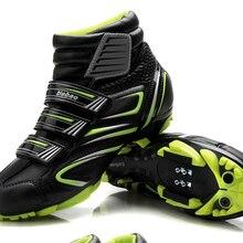 Велосипедная обувь Tiebao для женщин и мужчин зимний Цикл MTB для велосипедов, мотоциклов самоблокирующаяся обувь велосипедные ботинки Sapatilha Ciclismo Zapatillas