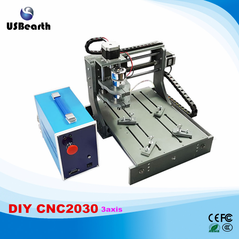 cnc Engraving machine 2030 parallel port 3 axis mini cnc router hot sale diy cnc 2030 parallel port 4 axis mini wood milling router dc spindle 300w 3 175mm drill tip