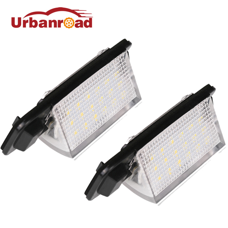 Fishberg For BMW E36 Led License Plate Light 2835 SMD 6000k White 12v Number Plate Lamp Bulbs For BMW E36 318i 318is 318ti 325i hopstyling 2pcs direct fit white 18 smd car led license plate light lamp for nissan teana j31 j32 maxima cefiro number light