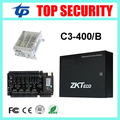 TCP/IP inteligente panel de tarjeta de tiempo de asistencia y control de acceso de cuatro puertas del panel de control de acceso con la función de la batería fuente de alimentación C3