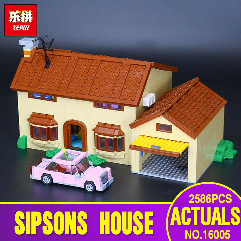 Lepin 16005 Genuine 2586Pcs Series The Simpson's family Kwik-E-Mart Set Building Blocks Bricks Educational Funny Toys Rated 5.0 funny bricks blocks anti stress tricks fun toys intelligent pyramid educational toys family party game