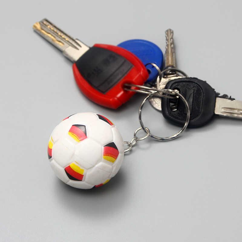 Suki esportes chaveiro chaveiro do carro abs alemanha impresso mini bonito pingente de futebol chaveiro para o presente favorito do desportista