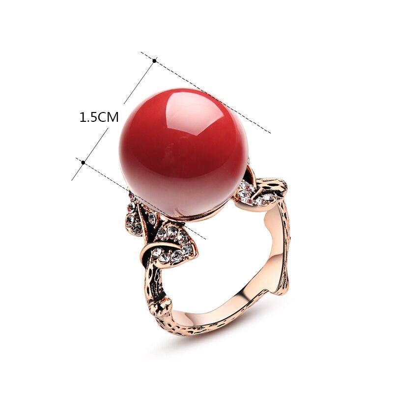 K'S Naprava prirodni umjetni koraljni prsten crveni koraljni prsten - Modni nakit - Foto 2