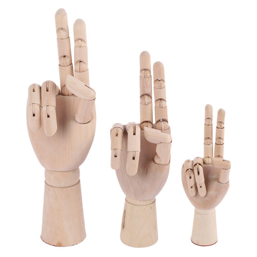 7/8/10/12 polegadas de Altura Modelo Manequim Manequim De Madeira Mão De Madeira Desenho Esboço Mão Membros Articulados artista humano Modelo