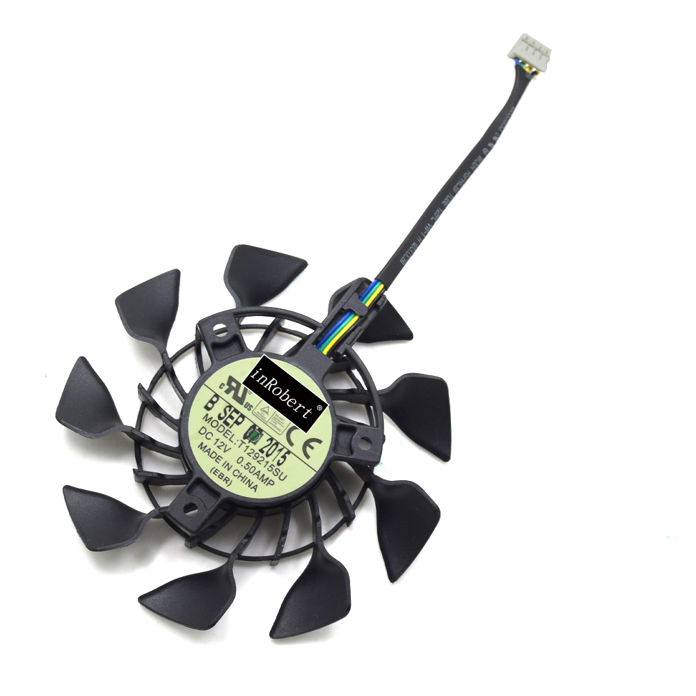 EVERFLOW 85mm T129215SU FD9015U12S PWM 4Pin Cooler Fan For ASUS GTX 670 760 970 R9 280 290 280X 290X Graphics Card Cooling Fan хай хэт и контроллер для электронной ударной установки roland fd 9 hi hat controller pedal