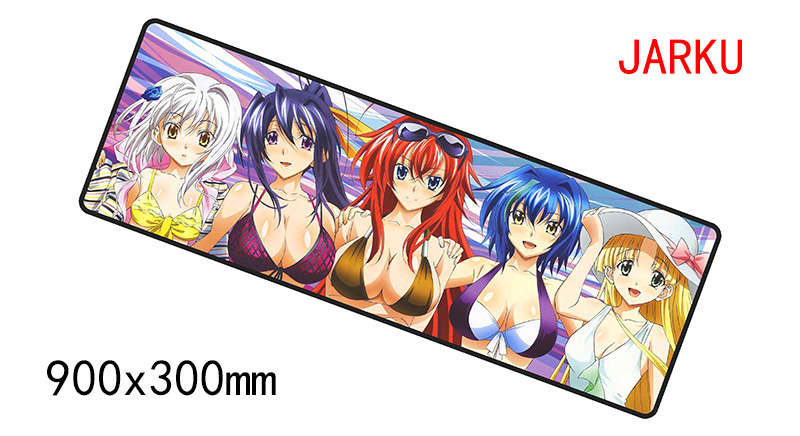900x300x2mm high school dxd mouse pad gaming mousepad gamer mouse mat pads game computer cute padmouse laptop play mats