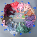 1pcs 15cm refires curly bjd doll hair for 1/3 1/4 OD OB AD BJD diy doll wigs
