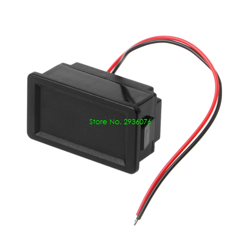 2018 New Waterproof 12V Lead-Acid Battery Status Capacity LED Display Indicator Voltmeter Drop Shipping Support