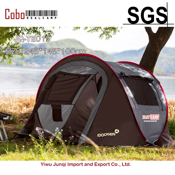 Fastcamp for 2~3persons (Gray)-One touch,pop up,Family Tent