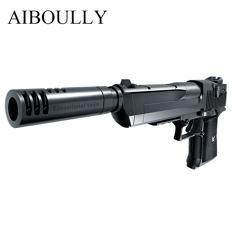 2017 Puzzle class Assemble toys model guns Desert Eagle ...