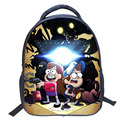 14 inch Gravity falls backpack youth schoolbag boys backpacks teenage female mini  school bags for teenagers
