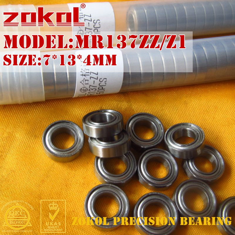 ZOKOL MR137 ZZ Z1 Bearing MR137ZZ Mr137 Zz Miniature  MR137-ZZ Z1 Deep Groove Ball Bearing 7*13*4mm