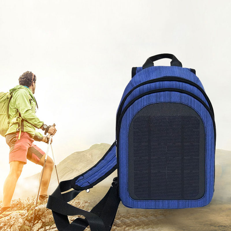 Outdoor Solar Power Charge Backpack Laptop Daypack Business Travel Phone Charger Waterproof Bags -BUY B2Cshop image