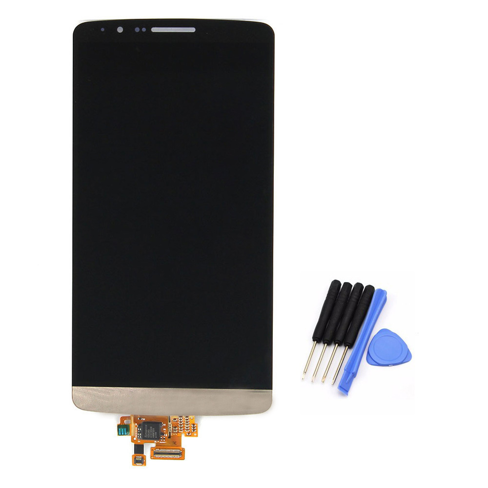 ФОТО For LG G3 D855 D850 LCD Display Touch Screen Digitizer Assembly replacement Gold free shipping!!!