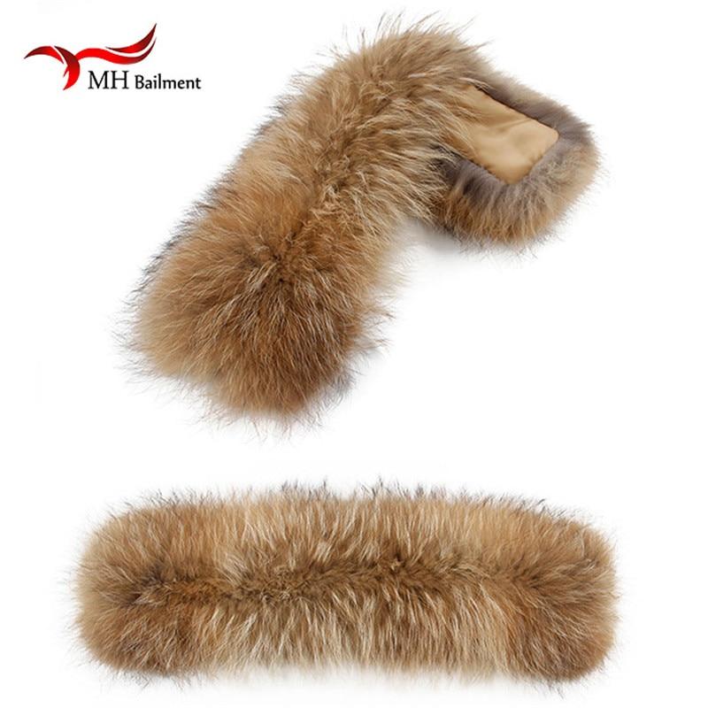 Zimní skutečné přírodní kožešinový límec dámské šály kabát šátky límec luxusní mýval kožešinová čepice na krk zimní kostým příslušenství límec L20