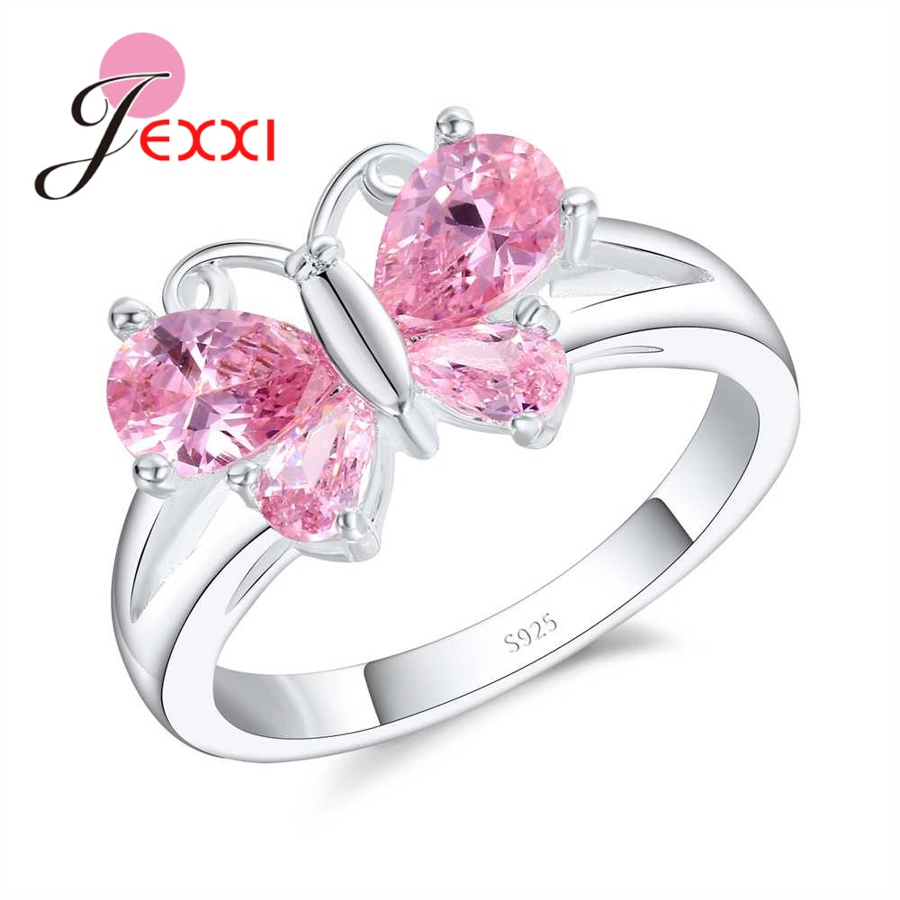 JEXXI Brilliant 925 Sterling Silver Round Cut Light Purple Crystal ...