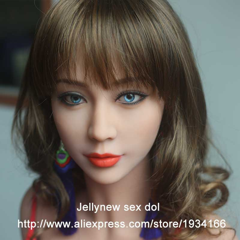 TPE Silicone head for <font><b>sex</b></font> <font><b>doll</b></font>,Oral <font><b>sex</b></font>,Custom Makeup,real human <font><b>dolls</b></font>.(135,140,<font><b>145</b></font>,153,158,161,163,165,168 <font><b>cm</b></font>) image
