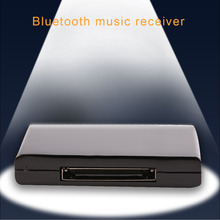 New Portable Hot Sale Bluetooth A2DP Music Audio 30 Pin Receiver Adapter for iPhone iPad black