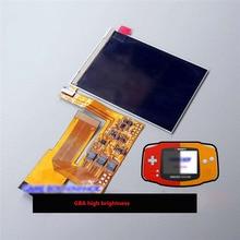 10 רמות בהירות גבוהה IPS תאורה אחורית LCD עבור Nintend GBA קונסולה עם תאורה אחורית LCD מסך עבור GBA קונסולה מתכווננת בהירות