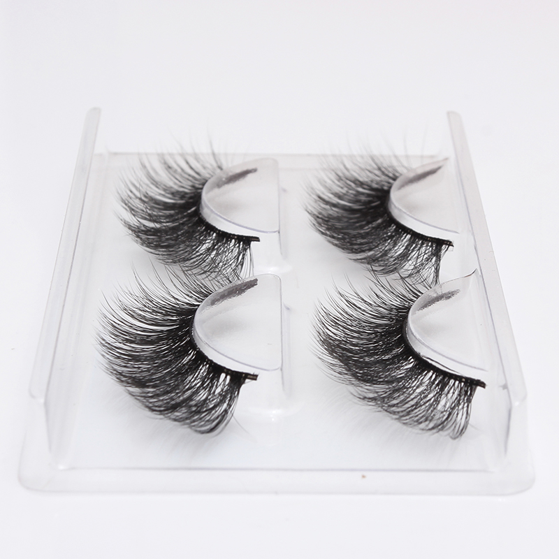 2 Pairs 3D Daily Dating Eyelashes Natural Long False Eyelashes Volume Culer Fake Lashes Handmade Eyelash Extension Beauty Makeup