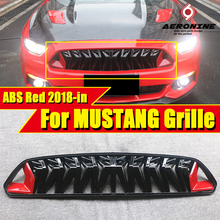 Fits For Ford Mustang grill grille ABS Red & black For Mustang Front Bumper Kidney Racing Grills Front Mesh 1:1 Replacement 18- цена