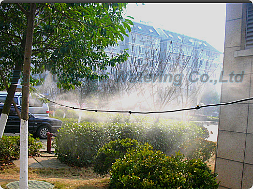 Pump outdoor mist cooling system with brass mist nozzle low pressure misting system Mist cooling system