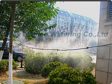 Pump outdoor mist cooling system with brass mist nozzle. low pressure misting system,Mist cooling system.Aeroponics.