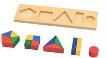 Новые деревянные детские игрушки Монтессори геометрические формы