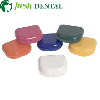 480pcs Dental Denture box with slot perforated design for easy cleaning put half denture PP material for autoclavable DB02