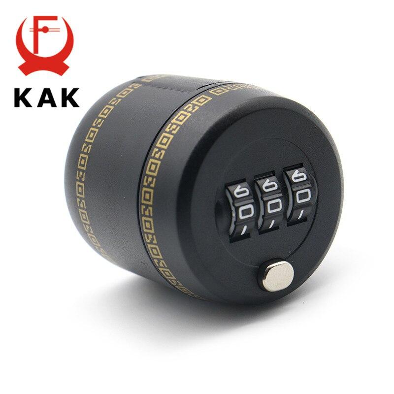 KAK Plastic Bottle Password Lock Combination Lock Wine Stopper Vacuum Plug Device Preservation For Furniture Lock Hardware push type vacuum sealed bottle wine stopper black