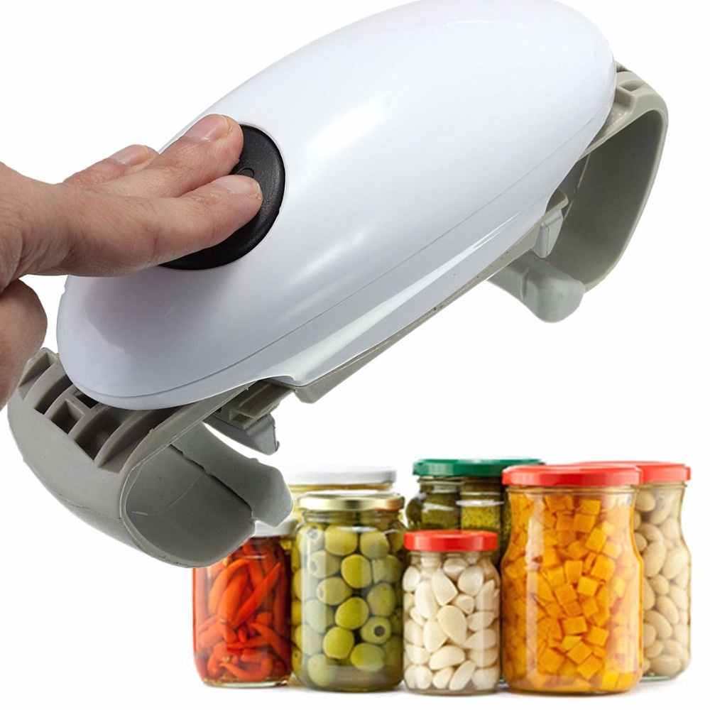 One Touch Jar Can Bottle Opener Automatic Electric Hands Free Operation Kitchen Tools Gadgets Home Essential Helper