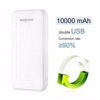 Wopow Power Bank Polymer Large Capacity 10000ma Fast Charging Dual USB Charging Port Portable Charger Universal