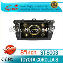 For 2 din car dvd  For Toyota Corolla 2007-2011 With gps bluetooth canbus steer wheel USB SD Slot 3G cheap model