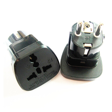 2PCS  Universal Travel Adapter European Plug International Power Socket Wall Electrical Connector with Safety Shutter