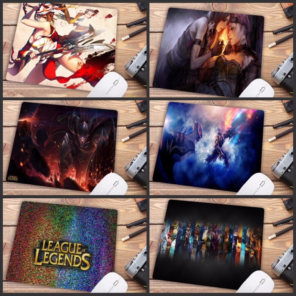 Mairuige 18X22CM LOL Big Promotions For Russia Country Mouse pad Gamer gaming Speed Mousepad keyboard mat for League of legends image