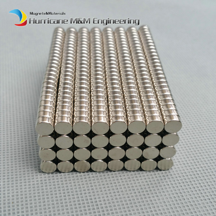 цены 100-2000pcs NdFeB Micro Magnet Disc Dia. 6x3 mm Precision Magnet Neodymium Magnets Sensor Rare Earth Magnets Grade N42 NiCuNi