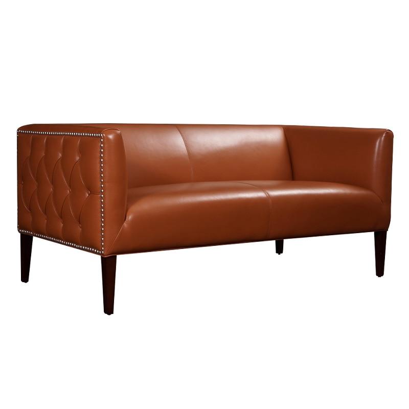 U-BEST Estilo Florence Knoll Sofá de 3 Lugares, conforto e maravilhoso  couro real estofados sofá clássico, mobília da sala de modelo 7597537fea