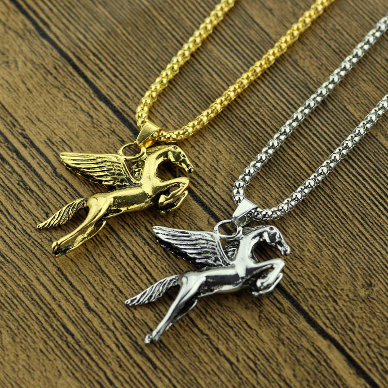 Biżuteria feimeng Percy Jackson naszyjnik magiczne piękne skrzydła konia pegaza wisiorek naszyjnik dla mężczyzn moda akcesoria