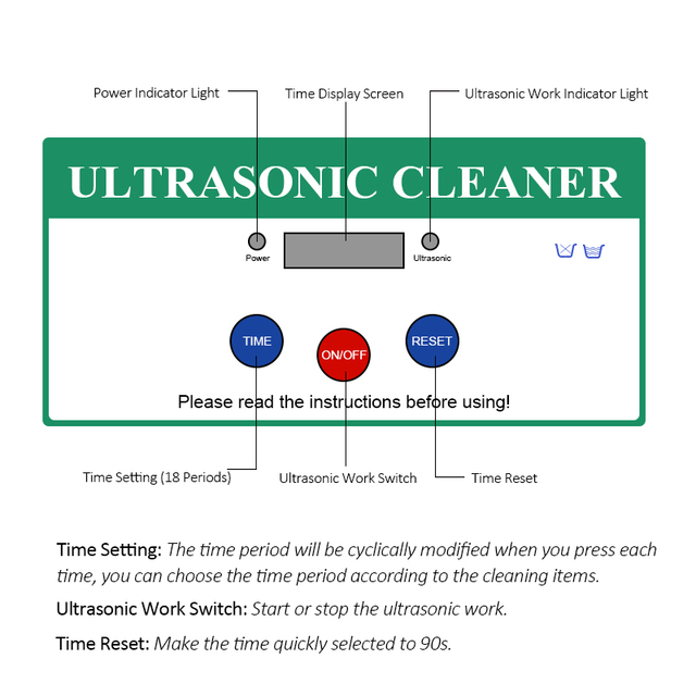 TINTON LIFE Digital Ultrasonic Cleaning Transducer Baskets Jewelry Watches Dental 0.8L Ultrasound Cleaner Mini Ultrasonic Bath Ultrasonic Cleaners