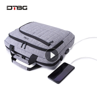 DTBG Laptop Bags for Man Women Large Capacity Briefcase Work bag Business Trip File Package Laptop Bag For 15.6 Inch Computer