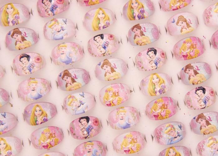 100 st smycken blandade tjejer Lucite barn / barn tecknad tjejer - Märkessmycken - Foto 4