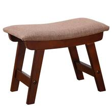 Creative Solid Wood Change Shoe Bench Household Sofa Stool Living Room Simple Footrest Multifunction Wooden Stable Low Stool(China)