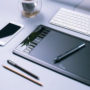 "Image 5 - Parblo A610 لوحة رسم رسومات رقمية مع قلم لوحي قابل لإعادة الشحن 10x6 ""5080LPI مع قفاز"