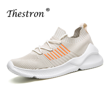 Thestron Summer Casual Shoes Men Fly Wire Breathable Walking Mens Beige Black Knit Designer Boy Sneakers
