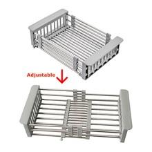 Adjustable Stainless Steel Sink Dish Drying Rack Holder Storage Rack